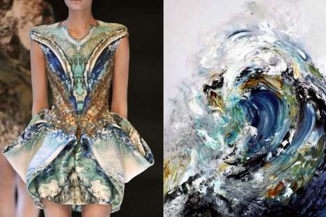 Matching Print Fashion Collages - Fashion Photography Blogger Bianca Mixes Fendi with Monet