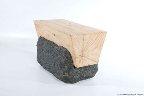 Stone-Embedded Seats - Kefa Bench Combines Natural Materials for an Artificially Organic Composition