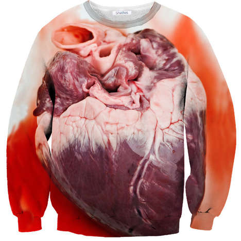 48 Striking Digital Print Sweaters - From Gory Anatomy Sweaters to Sloth-Inspired Gamer Apparel