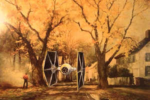 Dave Pollot Brings New Life to These Thrift Store Paintings