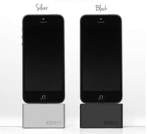Weighted Smartphone Wire Docks - The KERO Cable Dock Can Hold Wires in Place