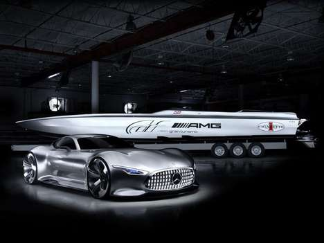 Luxe Gamer Racing Boats - The Cigarette Racing GT Vision Concept is Inspired by a Virtual Supercar