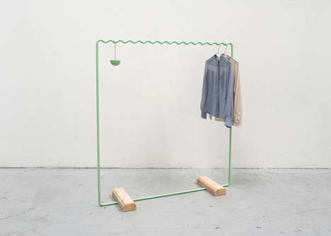Math-Inspired Clothing Racks - The SINE Collection Gets Its Unique Look from the Sine Wave