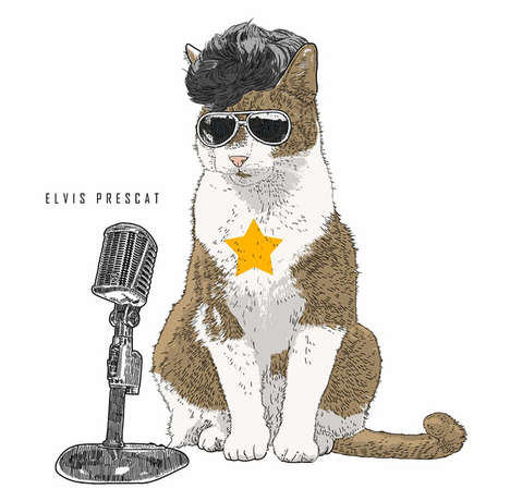 Celebrity Cat Costume Cartoons - These Cute and Funny Cat Drawings Will Put a Smile on Your Face