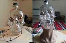 Skin Grafted Skull Bottles - This Forensic Artist Built the Crystal Head Vodka Bottle a Face