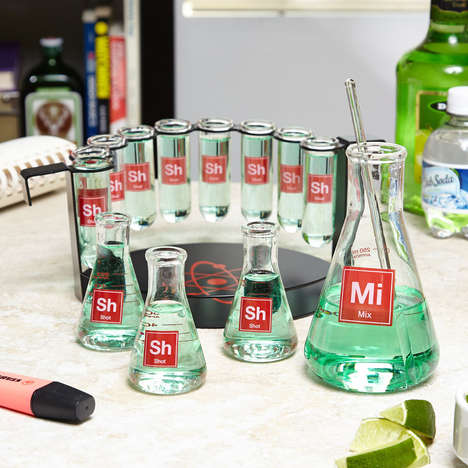 Alcohol Chemistry Set Shooters - Make Yourself a Drink in Your Mad Scientist Shot Glass Set