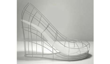 Open Wireframe Wedges - The Ghost Shoe Represents a Woman Who is Simultaneously Present and Absent