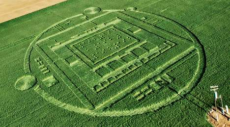 Crop Circle Tech Hoaxes - Nvidia Set Up Crop Circles to Promote Its 192-Core Tegra K1 Chip