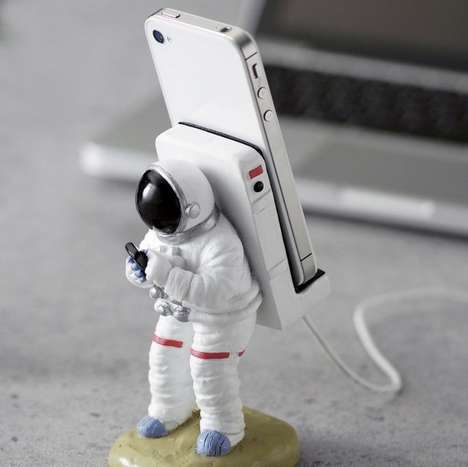 Cosmic Explorer Phone Stands - The Astronaut Smartphone Stand Stylishly Holds Your Phone