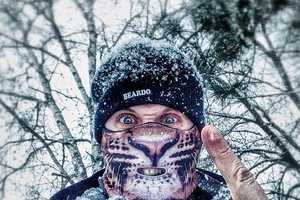 Show Off Your Wild Side with the Leopard Ski Mask