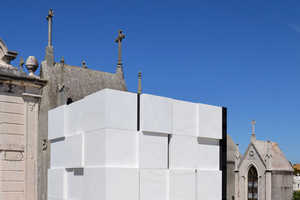 The Cubed Mausoleum is a Perfect Grid of White Marble Squares