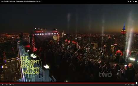 Guest Star Rooftop Performances - Fallon Kicked Off His First Show with a U2 Rooftop Performance