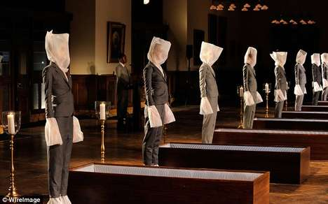 Morbid Casket Fashion Shows - The Thom Browne 2014 Religious Fashion Show Shocked Viewers