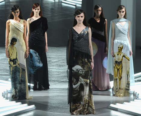 Space Saga-Inspired Dresses - These Star Wars Dresses by Rodarte Make a Splash on the Runway