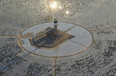 Gigantic Desert Solar Stations