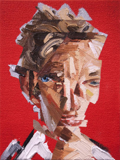 Vibrant Abstract Face Art - This Series of Abstract Portrait Paintings is Surreal and Bold