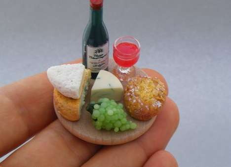 Minuscule Party Platters - Shay Aaron's Miniature Food Sculptures are Scrumptious and Realisti