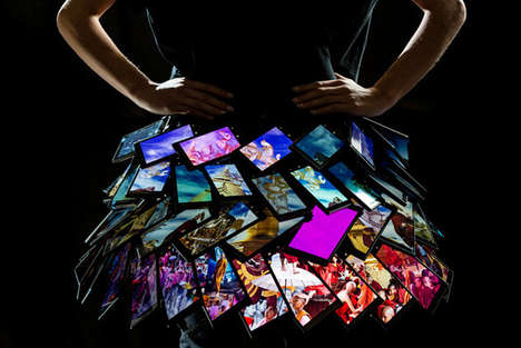 Vibrant Shifting Smartphone Dresses - Nokia Teams Up with Fyodor Golan to Mix Tech with Fashion