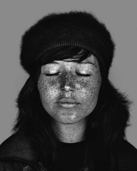 Grayscale Ultraviolet Portraits - Cara Phillips Captures True Beauty in Her Series of Portraits
