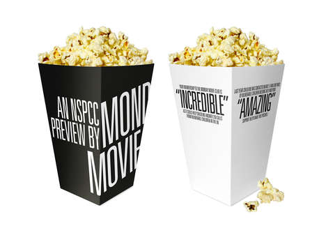 Billing Block Packaging - Monday Movie Club Branding is as Punchy as Hot New Cinema Titles