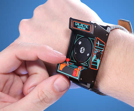 Downsized Gamer Watches - The Classic Arcade Wristwatch Almost Lets You Play Asteroids