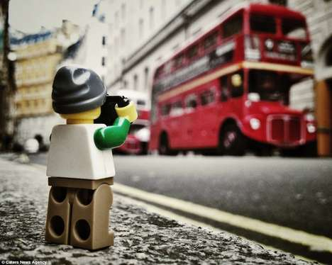 Miniature LEGO Figure Photography - The Artist Andrew Whyte Captures One LEGO Photographer in Action