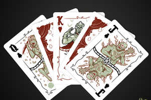 These Monster Montage Playing Cards are a Howl of a Good Time