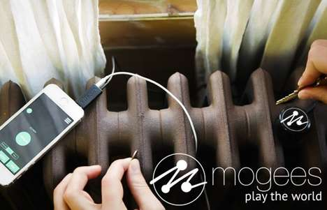 Music-Making App Devices - The Mogees App Can Turn Anything Into Music