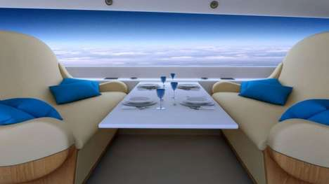 Extravagant Executive Jets [UPDATE] - The Spike Supersonic Jet Will Have Live Window Displays