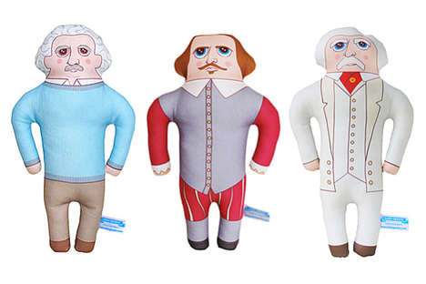 Historical Pillow Dolls - Get Your Kids to Play with History with These Stuffy Historical Figures