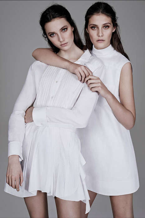 Creepily Perfect Twin Editorials - Ben Weller Shot for WSJ Magazine Spring/Summer 2014