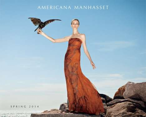 Cinematic Hitchcockian Lookbooks - The Americana Manhasset Spring 2014 Campaign Stars Daria Strokous