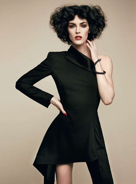 Little Black Suit Editorials - Yelena Yemchuk Captures Hilary Rhoda for Vogue Italia