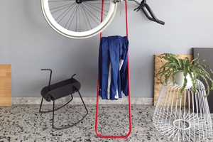 The Tol Hanger Holds Jackets, Hats and Your Trusty Two-Wheeler