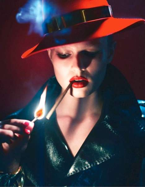 Fiery Femme Fatale Editorials - This