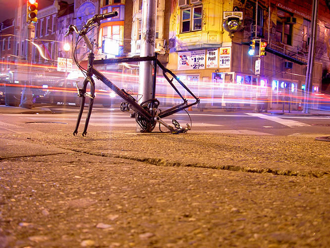 Vibrant Abandoned Bicycle Photography