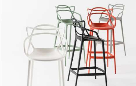 Elegantly Entangled Chairs - The Masters Barstool's Backrest Blends Different Design Inspirations