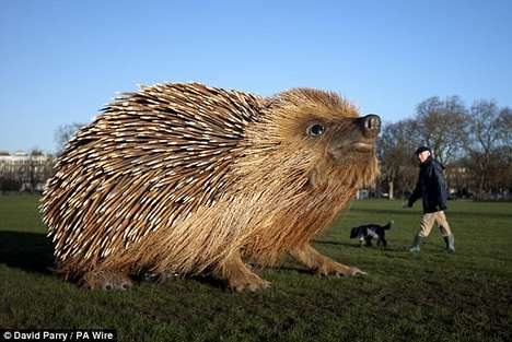 Giant Prickly Animal Sculptures - This Hedgehog Statue is a Massive Ode to the Prickly Creature