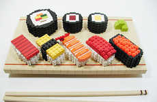 Appetizing Asian LEGO Food - This Block Sushi Looks Strangely Good, for LEGO