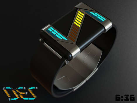 Avant-Garde Abstracted Watches - DEZ Watch Has an Unusual and Futuristic Way of Displaying the Hour