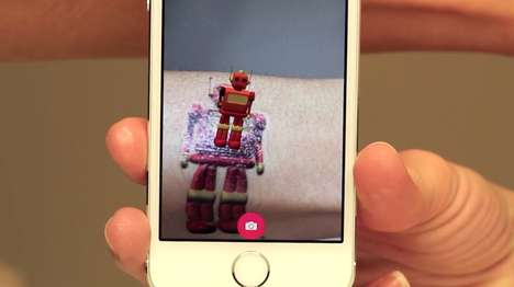 Temporary AR Tattoos - The Tattoos Alive! App Brings Temporary 3D Tattoos to Life