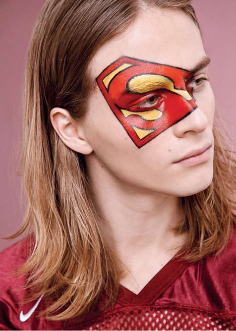Comic-Inspired Fashion Captures - The Super Heroes Editorial for Mixte Magazine Features Face Paint