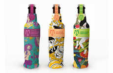 Fanciful Bottle Branding - MIU Fruit Wine Packaging is Dressed Up for the Young Female Drinker