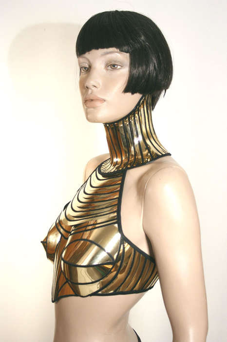 Geometric Egyptian Goddess Corsets - Feel Like a Powerful Ruler with the Cleopatra Armor Corset