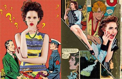 Comic Strip-Inspired Editorials - The L'Officiel Turkey February 2014 Issue Stars Carolina and