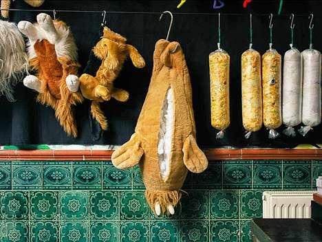 Stuffed Animal Slaughterhouses - Miroslav Menschenkind Displays His Pop-Up Butcher Shop