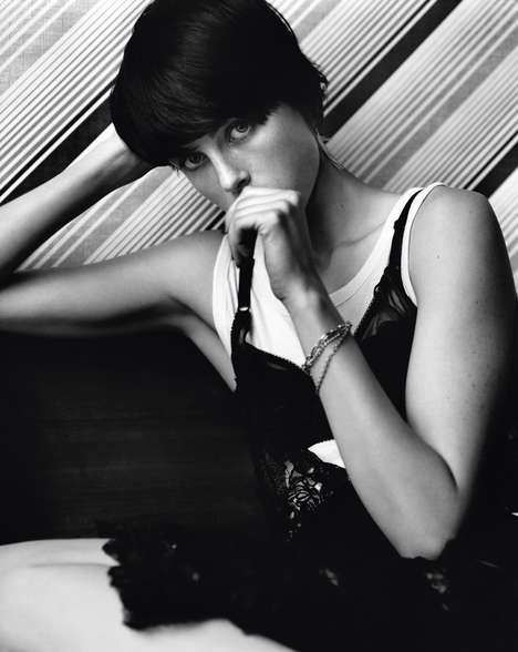 Lolita-Like Lounge Editorials - Edie Campbell Posed for i-D Pre-Spring 2014