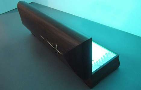 Ultraviolet Bombarding Sarcophagi - Artist Younes Baba-Ali Creates a Tanning Bed Coffin