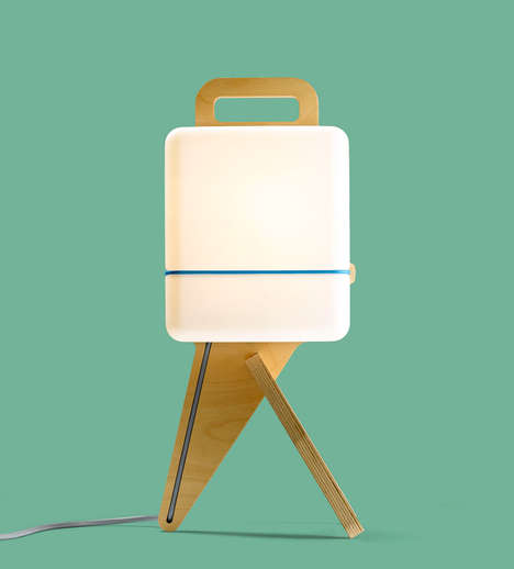Squat Boxy Lighting - The Henk Table Lamp by Jos Blom is Full of Personality