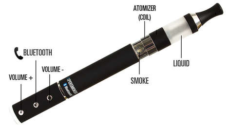 Elegant Electronic Speaker Cigarettes - The Supersmoker Has Bluetooth Connectivity & Plays Music